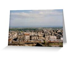 View to Princes Street Greeting Card