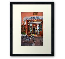 "Reggio-Emilia. ""Formaggi, Salumi e Pane"" Store, Italy 2009 Framed Print"