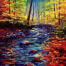 Autumn Maple Stream by sesillie