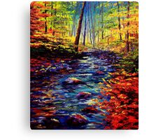 Autumn Maple Stream Canvas Print