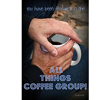 Coffee In Hand Feature Banner Photographic Print