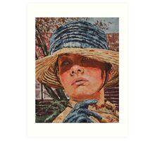 Lady in hat Art Print