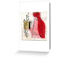 woman profile and branch Greeting Card