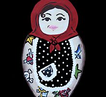 Tattooed Matryoshka Doll by CisforChristine