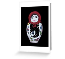 Tattooed Matryoshka Doll Greeting Card