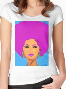 Pam Grier Aka Jackie Brown. XL version Women's Fitted Scoop T-Shirt
