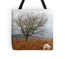 Sheep and a tree Tote Bag