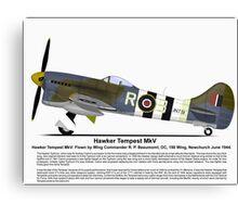 Hawker Tempest MKV Aircraft Profile Canvas Print