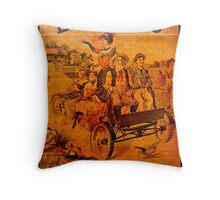 Vintage Ad Barkers Liniment Throw Pillow