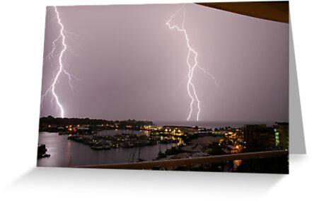 Lightning on Cullen Bay by Lynette Higgs