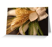 Wheat - Wedding Favour Greeting Card