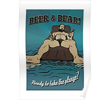 Beer & Bear - Ready to take the plunge? Poster