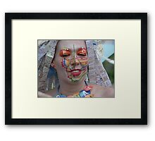 Subway face Framed Print