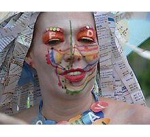 Subway face Photographic Print
