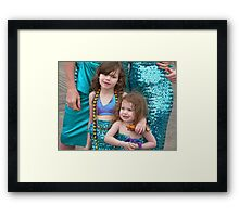 mermaid kids Framed Print
