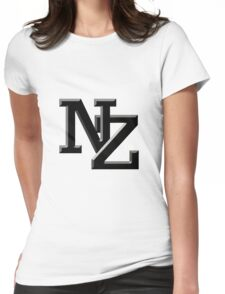 NZ letters New Zealand Womens Fitted T-Shirt