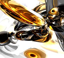 Black Amber Abstract  by Alexander Butler