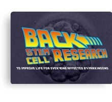 back stem cell research Canvas Print