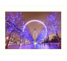 London Christmas Eye Art Print