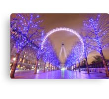 London Christmas Eye Canvas Print