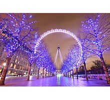 London Christmas Eye Photographic Print