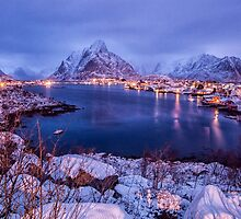 Blue Hour in Reine by Kristin Repsher
