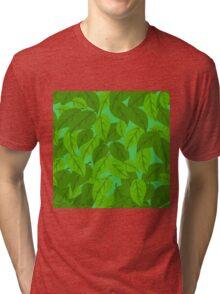 Green Leaves seamless Tri-blend T-Shirt