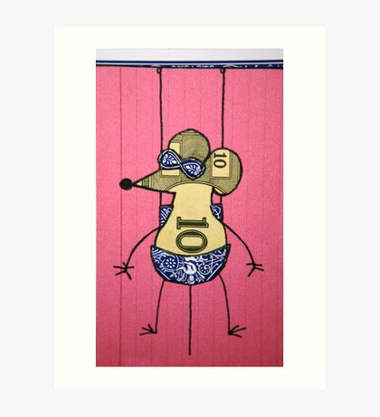 Montell wears shades on a cloudy day. Art Print