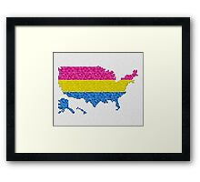 Pansexual Pixel USA Framed Print