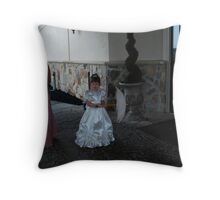 flower girl and grandmother Throw Pillow