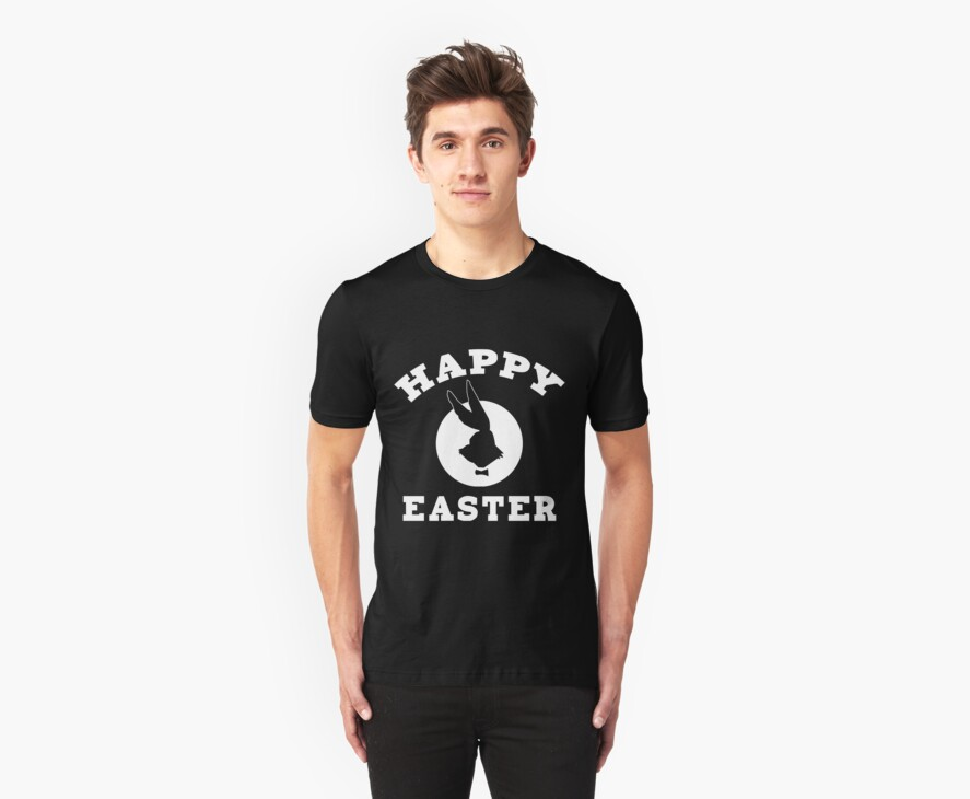 Happy Easter Featuring The New Easter Bunny by HolidayT-Shirts