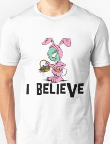 """Funny Easter """"I Beleive"""" T-Shirt"""
