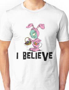 "Funny Easter ""I Beleive"" Unisex T-Shirt"
