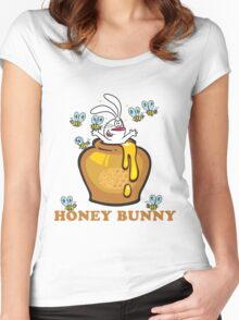 "Easter ""Honey Bunny"" Women's Fitted Scoop T-Shirt"