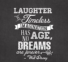 Laughter is Timeless in Mickey Black - Chalk Word Art by still-burning