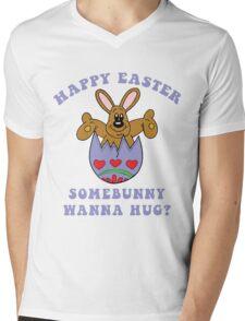"Happy Easter ""Somebunny Wanna Hug?"" Mens V-Neck T-Shirt"