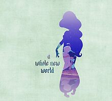 """A Whole New World"" - Jasmine - Aladdin - Disney Inspired by still-burning"