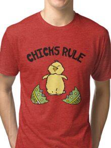 Easter Chicks Rule Tri-blend T-Shirt