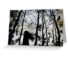 Dark Walk Greeting Card