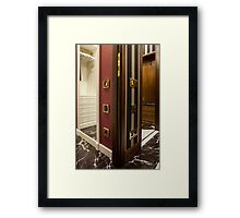 dressing room Framed Print