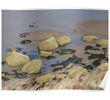 Rockpool on a Yorkshire Beach Poster
