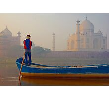 The Taj Mahal and the Golden Foggy Morning Hours Photographic Print