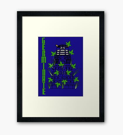 Germinate - Dr Who Framed Print
