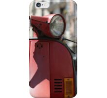 Old motor scooter iPhone Case/Skin