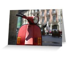 Old motor scooter Greeting Card