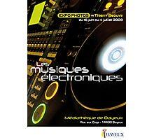 Affiche - Expo Les Musiques Eléctroniques Photographic Print