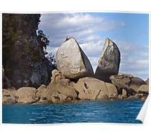 Split Apple Rock, Abel Tasman Nat'l Park, NZ Poster