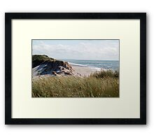 dune on the north sea Framed Print
