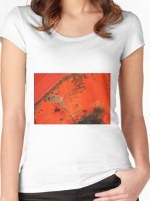 Grunge Abstract Women's Fitted Scoop T-Shirt