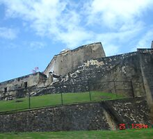 The Old Fort in San Juan by Yvonne Mason